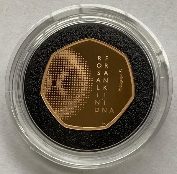 2020 Rosalind Franklin Gold Proof Fifty Pence