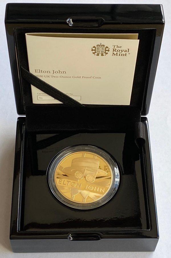 2020 Elton John Gold Proof Two Ounce £200