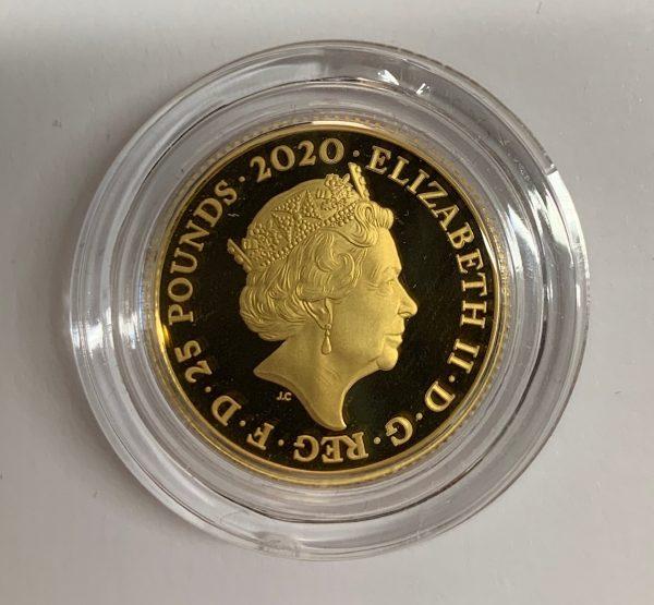 2020 James Bond Gold Proof Quarter Ounce £25