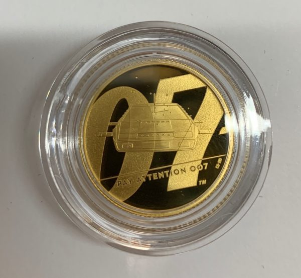 2020 James Bond Pay Attention 007 Gold Proof Quarter Ounce £25 - Series II