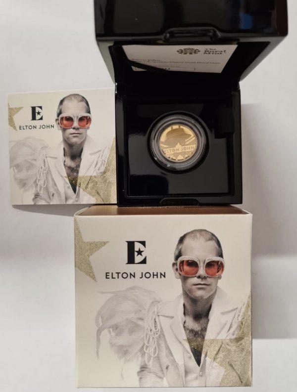 2020 Elton John Gold Proof Quarter Ounce £25