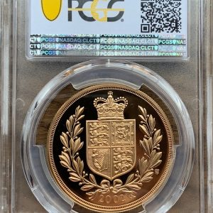 2002 Gold Proof Five Pounds PCGS PR70