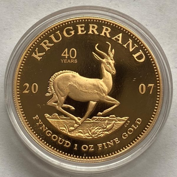 2007 South Africa Gold Proof One Ounce Krugerrand 40th Anniversary Launch Set