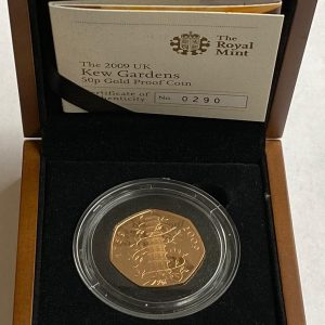 2009 Kew Gardens Gold Proof Fifty Pence