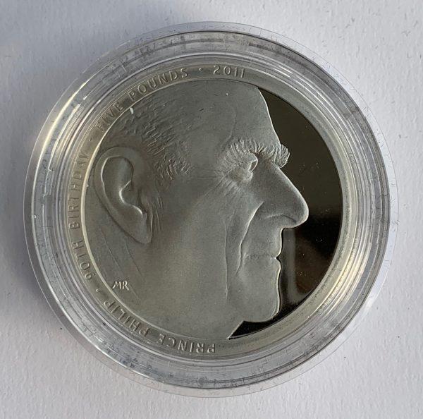 2011 Prince Philip Piedfort Platinum Proof Five Pounds
