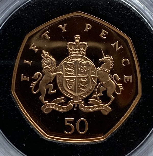 2013 Christopher Ironside Gold Proof Fifty Pence