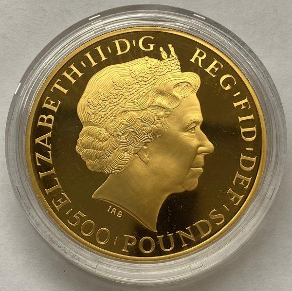 2013 Gold Proof Five Ounce Britannia £500