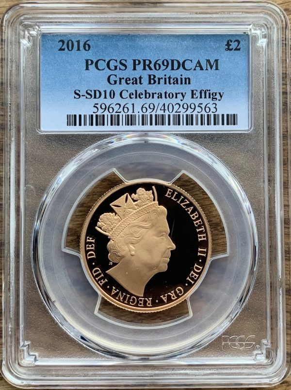 2016 Gold Proof Two Pounds PCGS PR69