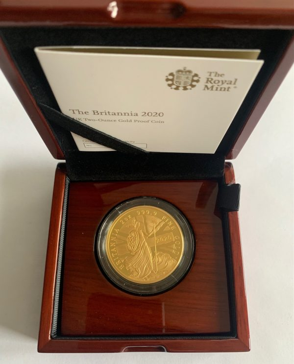 2020 Gold Proof Two Ounce Britannia £200