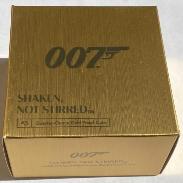 2020 James Bond Shaken Not Stirred Gold Proof Quarter Ounce £25