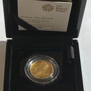 2020 James Bond Shaken Not Stirred Gold Proof Quarter Ounce £25