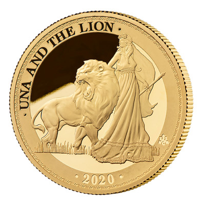 2020 St Helena Una and the Lion Gold Proof One Ounce