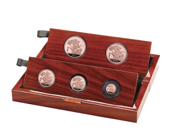 2021 5 Coin Gold Proof Sovereign Set