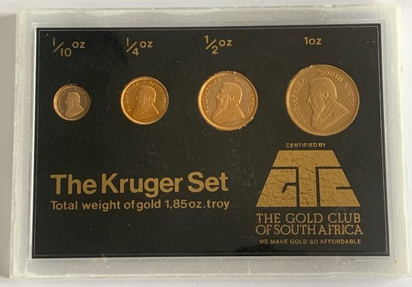 Gold Proof Krugerrand Set - 1969, 1992, 1993, 1989