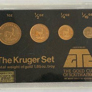 Gold Proof Krugerrand Set - 1969, 1992, 1993, 1989