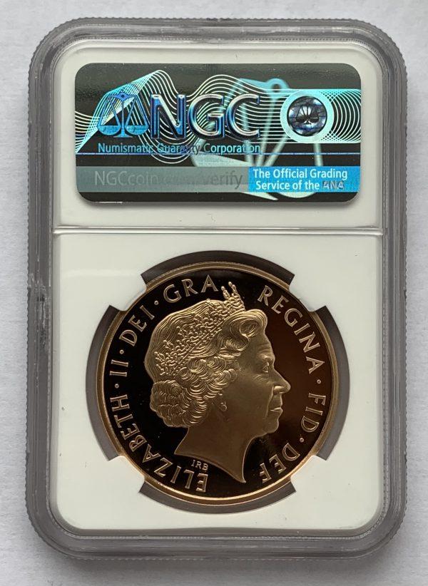 2011 Prince Philip Gold Proof Five Pounds PR70