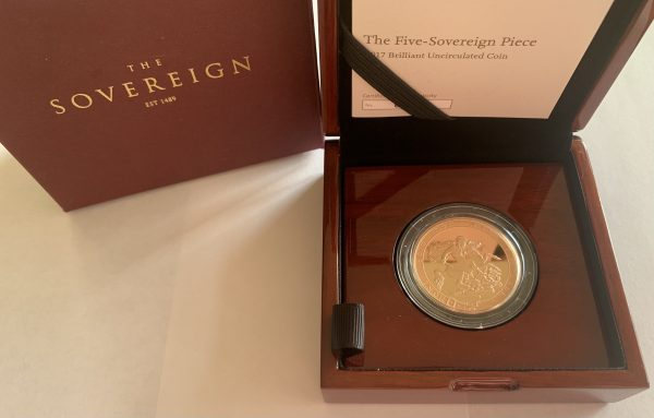 2017 Brilliant Uncirculated Gold Five Pounds