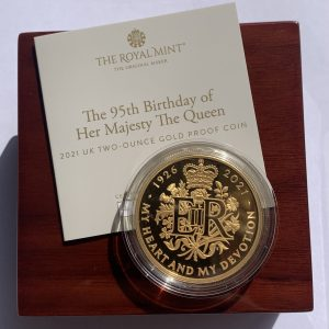 2021 Queen's 95th Birthday Gold Proof Two Ounce £200