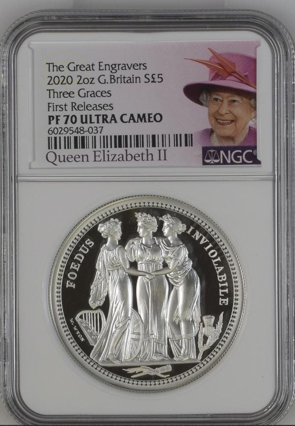 2020 Royal Mint Three Graces Silver Proof 2oz