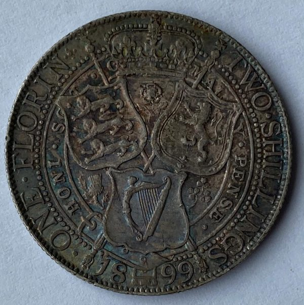 1899 Queen Victoria Silver Florin