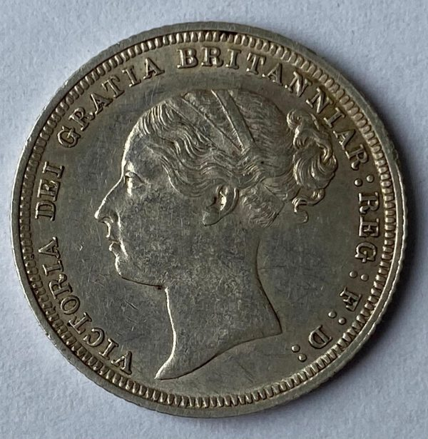1886 Queen Victoria Silver Six Pence