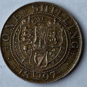 1897 Queen Victoria Silver Shilling