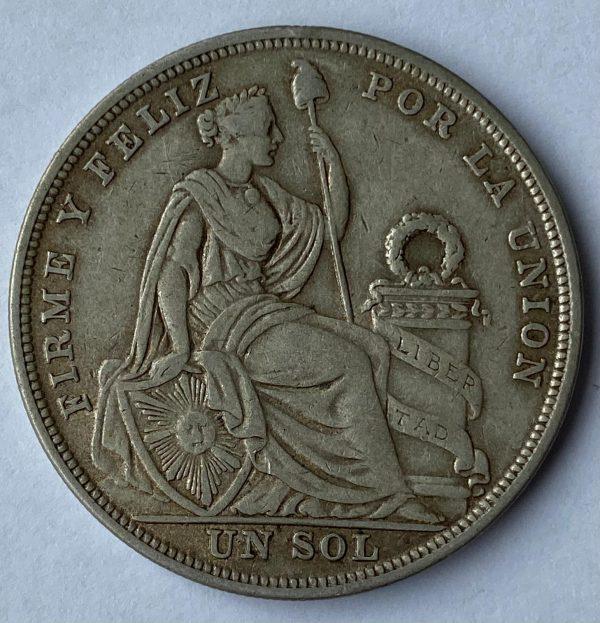 1923 Peru Silver Un Sol