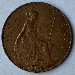 1906 King George VII Penny