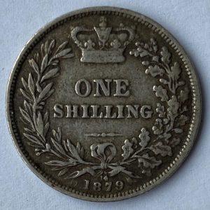 1879 Queen Victoria Silver Shilling