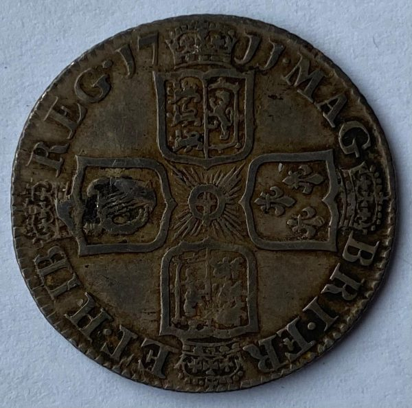 1711 Queen Anne Silver Shilling