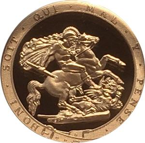 Piedfort Gold Sovereign