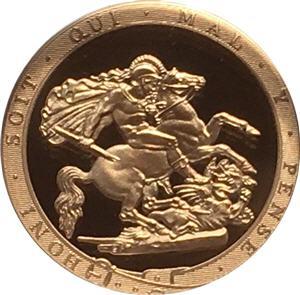 Piedfort Gold Sovereign