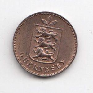 1889 Guernsey Heaton Mint 1 Double